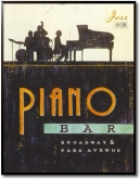 Tablou Vintage Piano Bar